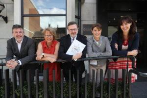 (L-R, Peter Brown - IRC; Anne Cody - HRB; Deiric O'Broin -Chairperson, Campus Engage; Dorothy Stewart - EPA; Margie McCarthy - SFI)